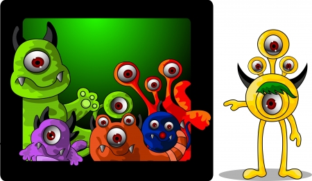 monsters cartoon Vector