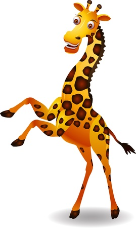 piebald: giraffe cartoon