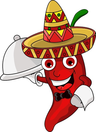 Illustration of a Chili Character  Vector