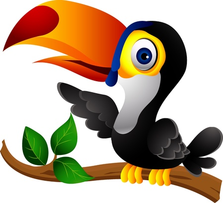 central park: Tuc�n de dibujos animados de aves Vectores