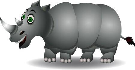 snuffelen: neushoorn cartoon geïsoleerd Stock Illustratie