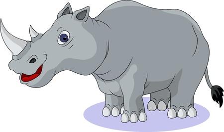 african grey: rhino cartoon isolated Illustration