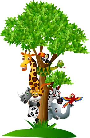 Funny wilde Afrikaanse dieren cartoon