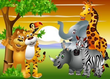 Dibujos de animales salvajes de África