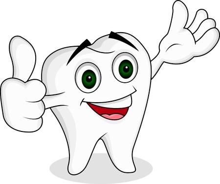 pasta dientes: Diente de personaje de dibujos animados