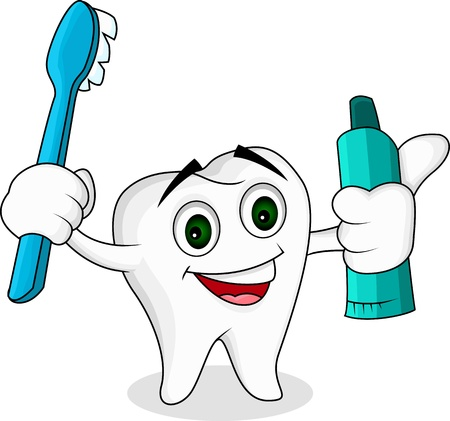 Tooth cartoon character  Vector