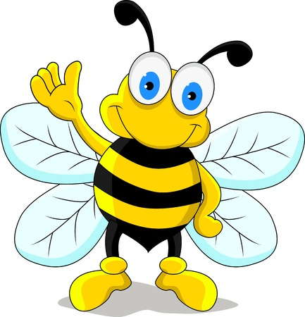 cute bee: funny bee cartoon character