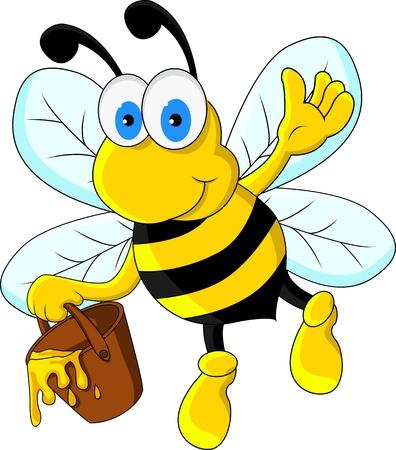 miel et abeilles: dr�le d'abeille personnage de bande dessin�e