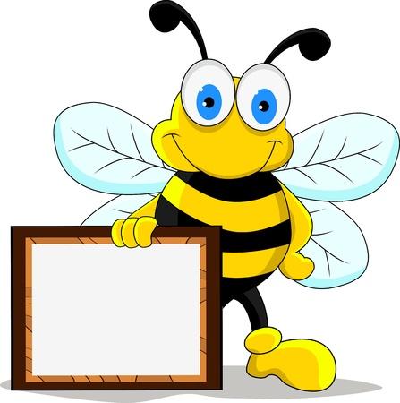 pot miel: dr�le d'abeille personnage de bande dessin�e