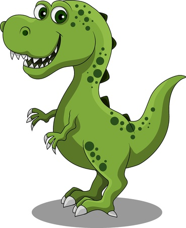 cute dinosaur: Dinosaurio de dibujos animados Vectores