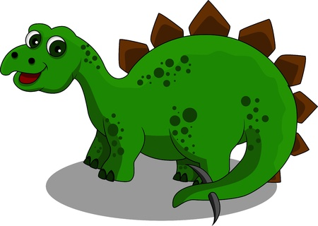 dinosaur: funny Stegosaurus cartoon