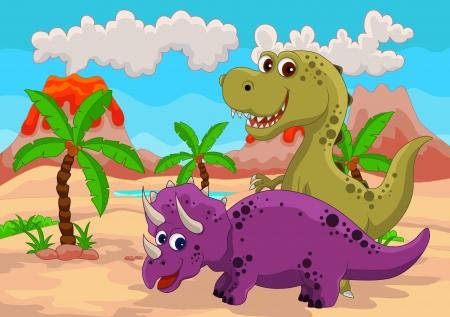 Dinosaur cartoon Stock Vector - 14524520