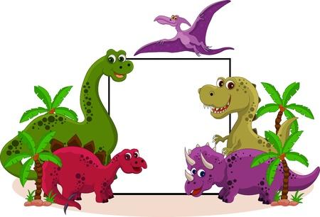 dinosauro: Dinosaur con segno bianco