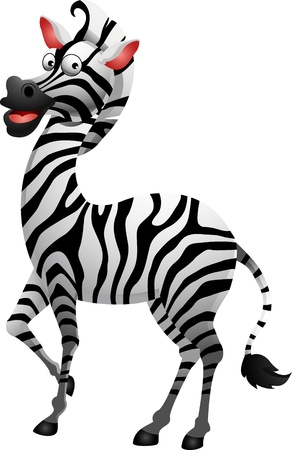cute zebra cartoon Stock Vector - 14524428
