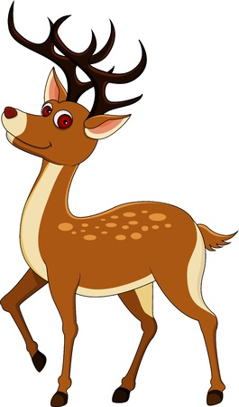 cartoon reindeer: cute deer cartoon