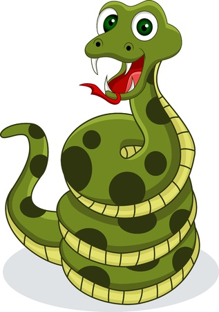 funny snake Stock Vector - 14557456