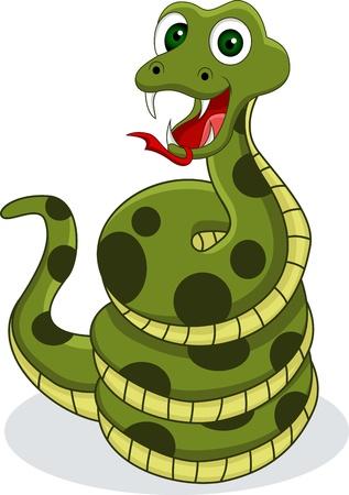 funny snake Stock Vector - 14557456