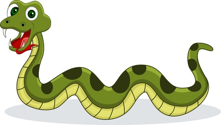 funny snake Stock Vector - 14557455