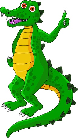 funny crocodile cartoon Vector