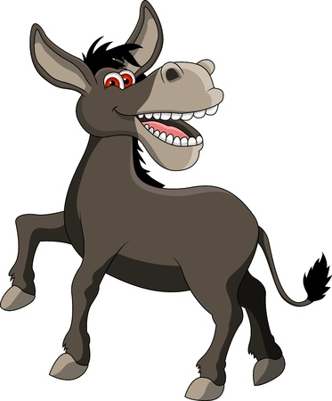 funny donkey smiling Vector