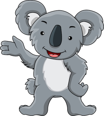 presentation of koala cartoon Vector