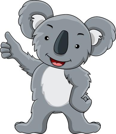 presentation of koala cartoon Vector