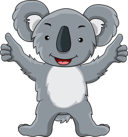 presentation of koala cartoon Illustration