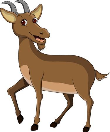 cartoon zoo: goat cartoon Illustration