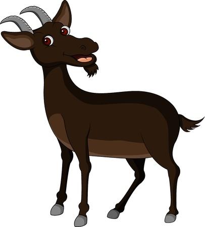 smiling goat: goat cartoon Illustration