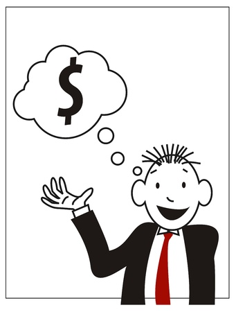 illustration of a businessmen who demonstrate about the money Vector