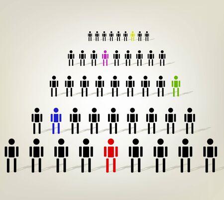 illustration of human diversity Vector