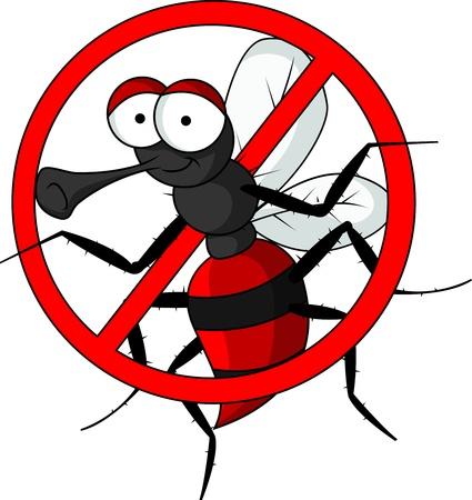 anopheles: stop mosquito cartoon