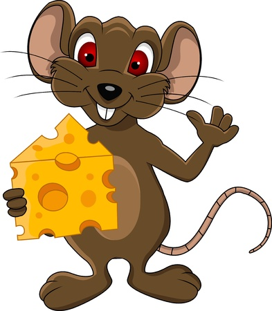 rata caricatura: dibujos animados del ratón divertido