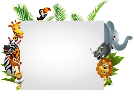 mandrill: Divertente fumetto animale selvatico africano