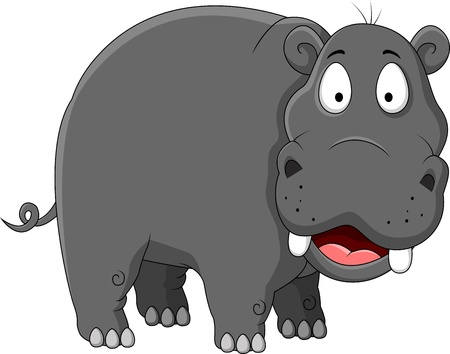 nijlpaard cartoon Vector Illustratie