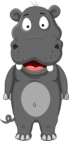 hippopotamus cartoon Stock Vector - 15000210