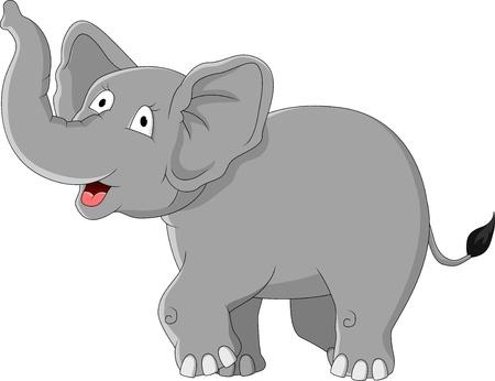 elefantes: elefante de dibujos animados