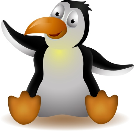 iciness: cute penguin cartoon