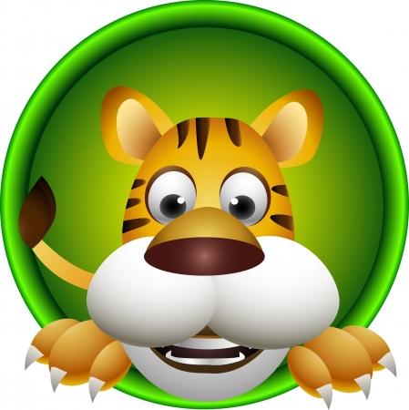 animales safari: lindo tigre haed Vectores