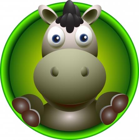 bushel: cute donkey head cartoon