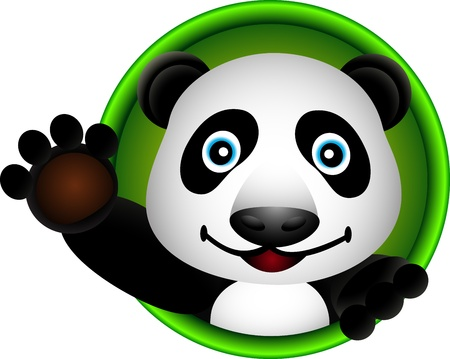 childishness: cute panda head cartoon