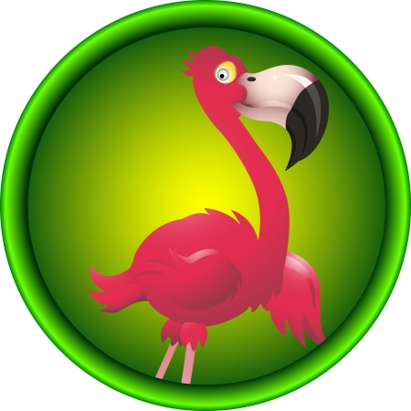 cute flamingo cartoon Vector