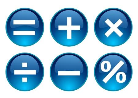 interface menu tool: matematica simbolo Vettoriali