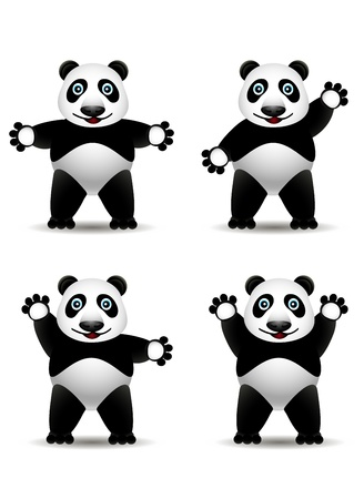 lowbrow: panda cartoon collection Illustration