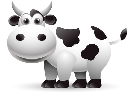 cute cow cartoon Stock Vector - 15498110