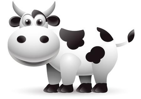 vaca caricatura: dibujos animados vaca linda