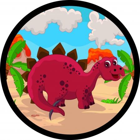 stegosaurus: dibujos animados dinosaurio divertido