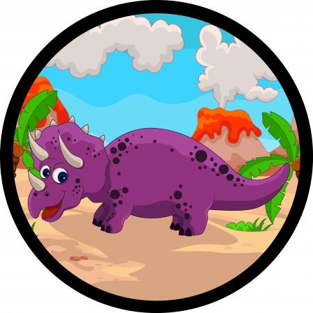 prehistoria: dibujos animados dinosaurio divertido