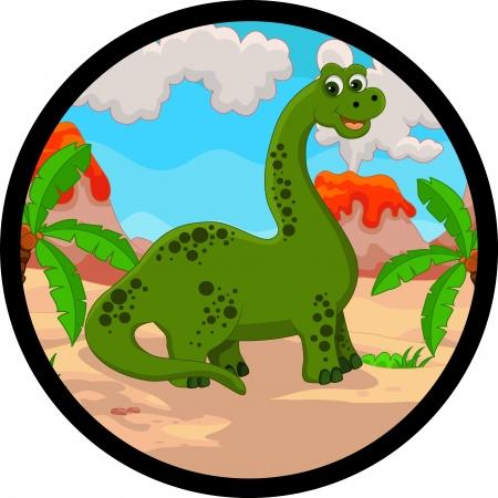dinosaurio caricatura: dibujos animados dinosaurio divertido