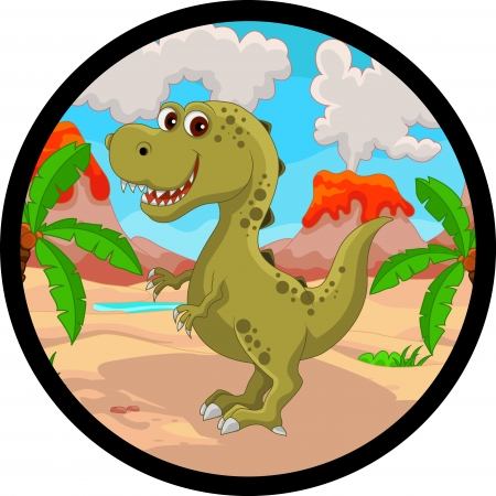 dinosaur cute: funny dinosaur cartoon Illustration
